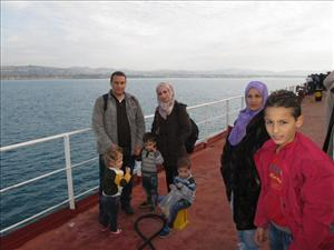 A family from Aleppo was one of many rescued by the <i>Liberty Grace</i>.