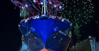 TOTE's second LNG-powered containership for Puerto Rico trade christened, launched