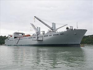 The <i>USNS Brittin</i> performs cargo operations in Tacoma, Wash. in support of Joint Logistics Over the Shore 2016. The annual exercise was conducted in June in conjunction with two multi-agency disaster recovery exercises - Cascadia Rising and Ardent Sentry. The <i>USNS Brittin</i> is operated for Military Sealift Command by General Dynamics American Overseas Marine Corp. and is manned in all licensed positions by American Maritime Officers.