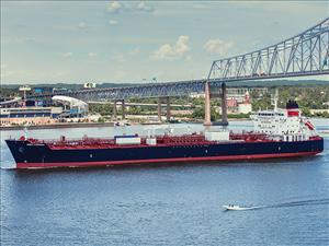 The <i>West Virginia</i> was delivered to Crowley August 12 and was christened in Philadelphia on August 16. The <i>West Virginia</i> is the fourth Jones Act LNG-ready tanker built for Crowley Maritime Corporation by Philly Shipyard. Each of the tankers in the series is manned in all licensed positions by American Maritime Officers. Photo: Crowley Maritime Corp.