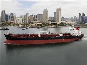 The Jones Act tanker <i>Bay State</i>, the fourth ship in a series of five being built for American Petroleum Tankers by General Dynamics NASSCO, successfully completed sea trials prior to being christened September 17. Photo: General Dynamics NASSCO