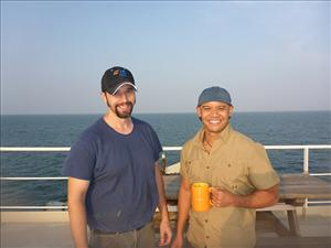 Working aboard <i>C.S. Dependable</i> during the rescue were First Assistant Engineer Robert Carlstad and First Officer Erick Amiscosa.
